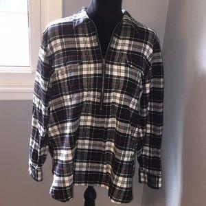 NWOT Chaps zipper front, flannel top.
